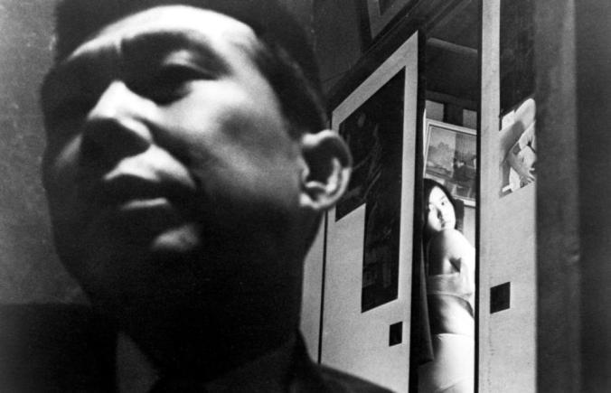THE PORNOGRAPHERS, (aka JINRUIGAKI NYUMON: EROGOTOSHITACHI YORI), from left: Shoichi Ozawa, Keiko Sagawa, 1966